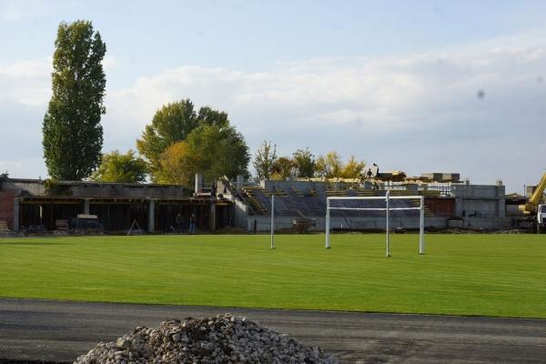 На дворе трава: на саратовском стадионе «Авангард» с успехом вырос только газон, забор и трибуны за ним не поспевают