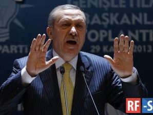 Курс турецкой лиры к доллару рухнул сегодня на 4%
